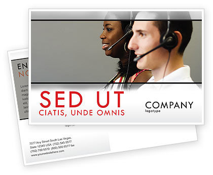 Careers/Industry: Telecoms Operator Postcard Template #05311