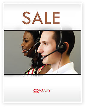 Telecoms Operator Sale Poster Template, 05311, Careers/Industry — PoweredTemplate.com