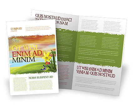 Fine Sunrise Brochure Template, 05312, Nature & Environment — PoweredTemplate.com