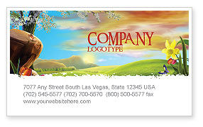 Nature & Environment: Fine Sunrise Business Card Template #05312