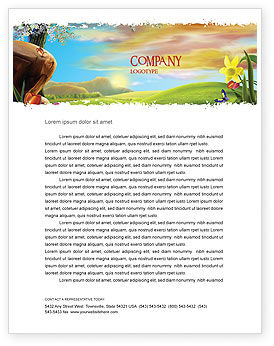 Nature & Environment: Fine Sunrise Letterhead Template #05312