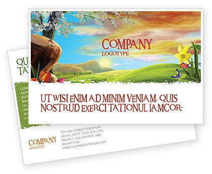 Fine Sunrise Postcard Template, 05312, Nature & Environment — PoweredTemplate.com