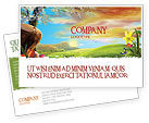 Nature & Environment: Fine Sunrise Postcard Template #05312