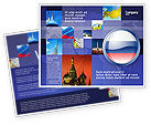 Flags/International: Russian Flag Brochure Template #05313