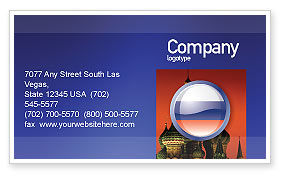 Flags/International: Russian Flag Business Card Template #05313