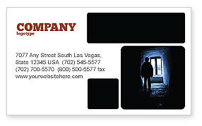 Loneliness Business Card Template, 05322, People — PoweredTemplate.com