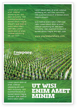 Rice Paddies Ad Template, 05325, Agriculture and Animals — PoweredTemplate.com