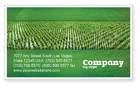Rice Paddies Business Card Template, 05325, Agriculture and Animals — PoweredTemplate.com