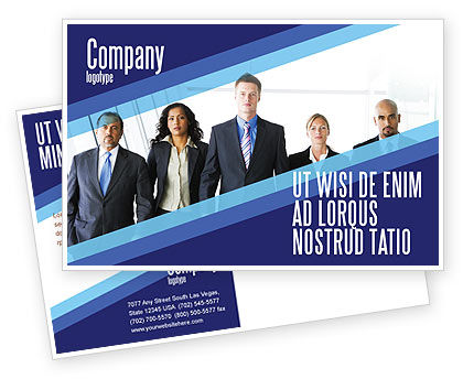 Business: Business Professionals Postcard Template #05332