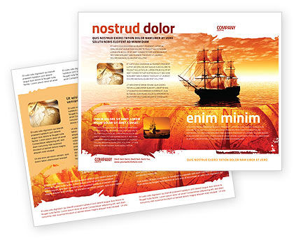 Sailing Ship Brochure Template, 05333, Cars/Transportation — PoweredTemplate.com