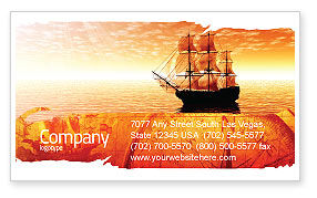 Cars/Transportation: Sailing Ship Business Card Template #05333