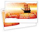 Cars/Transportation: Sailing Ship Postcard Template #05333