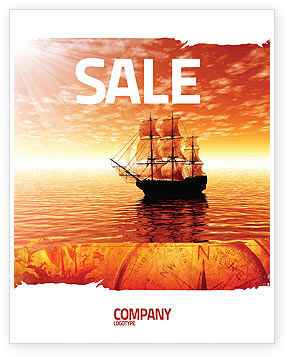 Sailing Ship Sale Poster Template, 05333, Cars/Transportation — PoweredTemplate.com