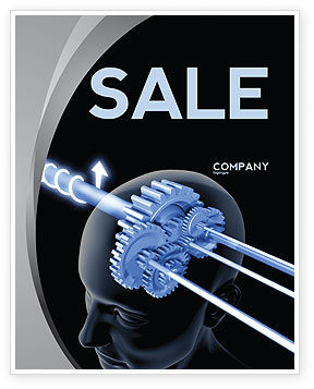 Mechanisms Of Brain Sale Poster Template, 05340, Consulting — PoweredTemplate.com