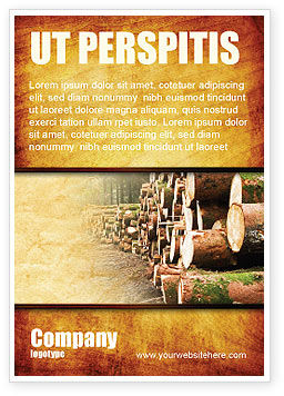 Saw Mill Ad Template, 05341, Careers/Industry — PoweredTemplate.com