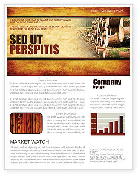 Careers/Industry: Saw Mill Newsletter Template #05341
