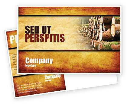 Saw Mill Postcard Template, 05341, Careers/Industry — PoweredTemplate.com