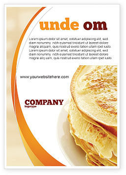Pancakes Ad Template, 05343, Food & Beverage — PoweredTemplate.com