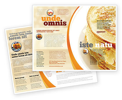 Food & Beverage: Pancakes Brochure Template #05343