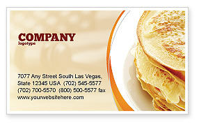 Pancakes Business Card Template, 05343, Food & Beverage — PoweredTemplate.com