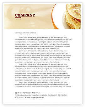 Pancakes Letterhead Template, 05343, Food & Beverage — PoweredTemplate.com