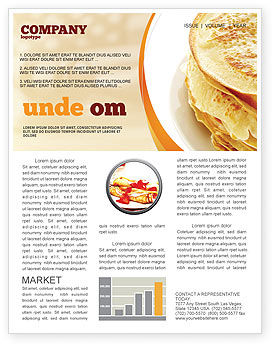 Food & Beverage: Modello Newsletter - Pancakes #05343
