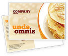 Food & Beverage: Pancakes Postcard Template #05343