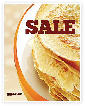 Pancakes Sale Poster Template, 05343, Food & Beverage — PoweredTemplate.com