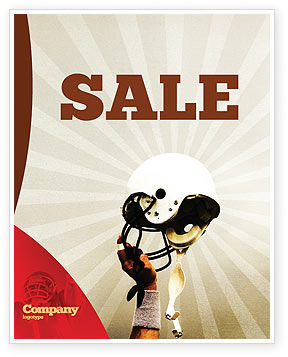 Sports: American Football League Sale Poster Template #05344