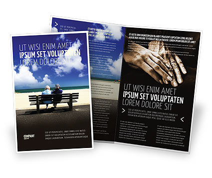 Elderly People Brochure Template, 05345, People — PoweredTemplate.com