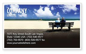 Elderly People Business Card Template, 05345, People — PoweredTemplate.com