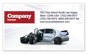 Accident Business Card Template, 05346, Consulting — PoweredTemplate.com