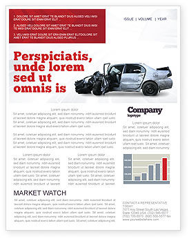 Consulting: Accident Newsletter Template #05346