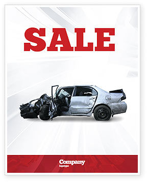 Accident Sale Poster Template, 05346, Consulting — PoweredTemplate.com