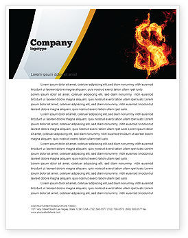 Flaming Dollar Letterhead Template, 05347, Financial/Accounting — PoweredTemplate.com