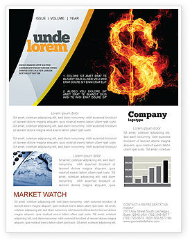 Flaming Dollar Newsletter Template
