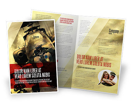 Military Helicopter Brochure Template, 05348, Military — PoweredTemplate.com