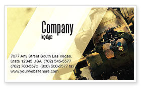 Military Helicopter Business Card Template, 05348, Military — PoweredTemplate.com