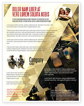 Military: Military Helicopter Flyer Template #05348