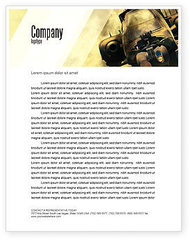 Military: Military Helicopter Letterhead Template #05348