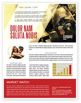 Military Helicopter Newsletter Template, 05348, Military — PoweredTemplate.com