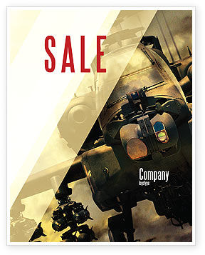 Military Helicopter Sale Poster Template