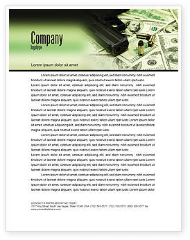 Money and Guns Letterhead Template