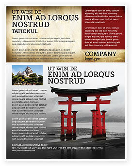 Art & Entertainment: Ancient Japan Flyer Template #05350