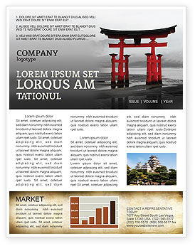 Art & Entertainment: Ancient Japan Newsletter Template #05350