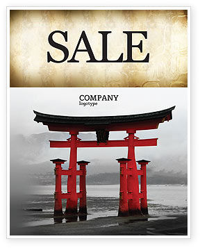 Art & Entertainment: Ancient Japan Sale Poster Template #05350