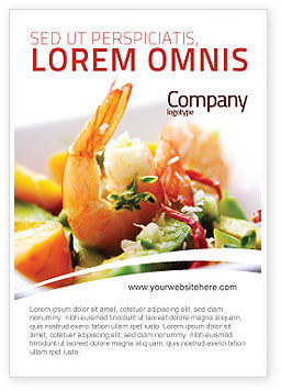 Food & Beverage: Shrimp Ad Template #05355