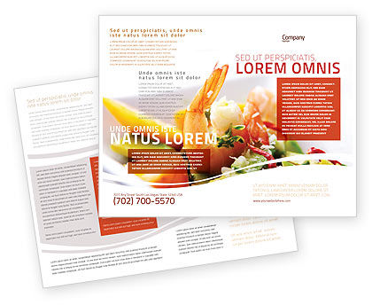 Shrimp Brochure Template, 05355, Food & Beverage — PoweredTemplate.com