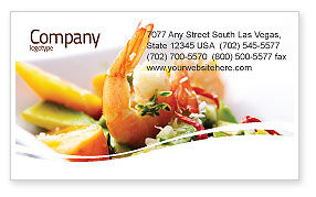 Shrimp Business Card Template, 05355, Food & Beverage — PoweredTemplate.com