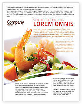 Shrimp Flyer Template, 05355, Food & Beverage — PoweredTemplate.com